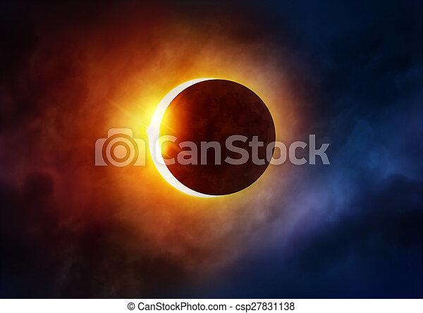 Solar Eclipse - csp27831138