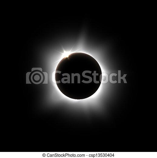 Solar eclipse - csp13530404