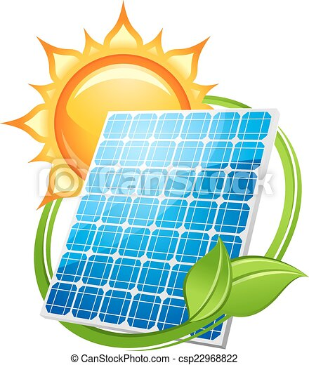 Solar Energy And Power Concept To Save The Environment