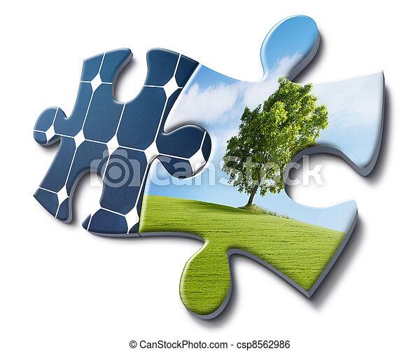 solar energy loves nature - csp8562986