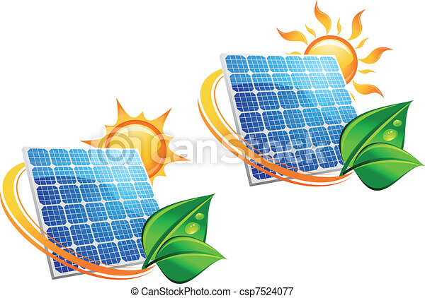 Solar energy panel icons - csp7524077
