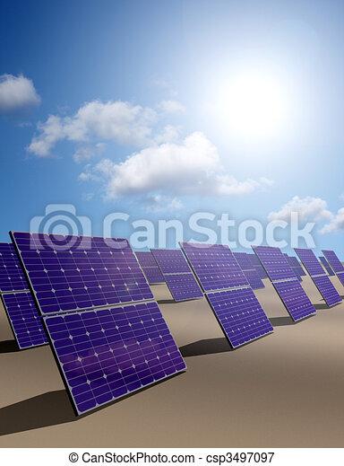 Solar energy park in desert - csp3497097