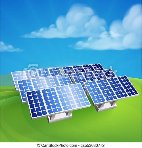 Solar Energy Power Renewable Farm Cells Illustration Of