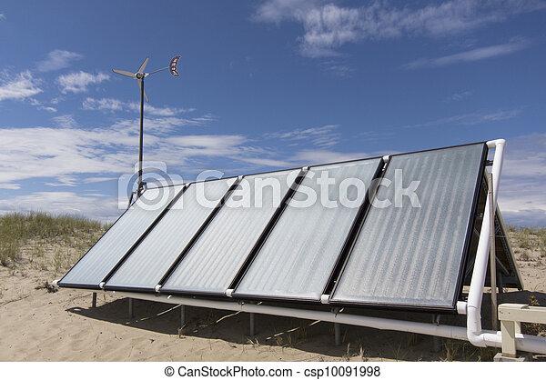 Solar hot water panels - csp10091998