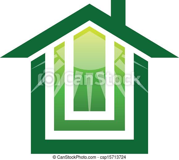 Solar House Logo - csp15713724