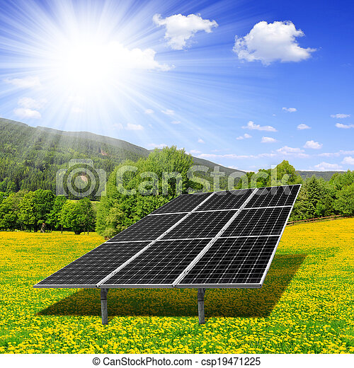 solar, painéis, energia - csp19471225