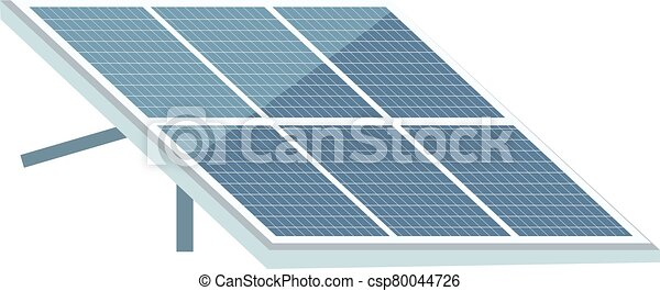 Solar Panel Cartoon Vector Illustration Photovoltaic Module Flat Color Object Using Alternative Energy Sources Renewable Canstock