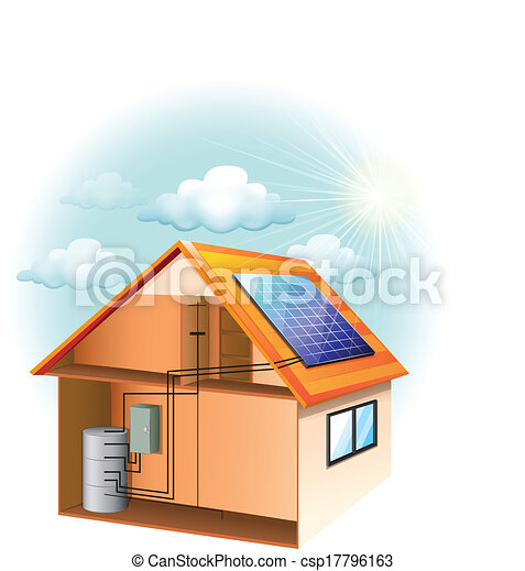 illustration showing the solar panel clip art vector search rh canstockphoto com  renewable energy clipart