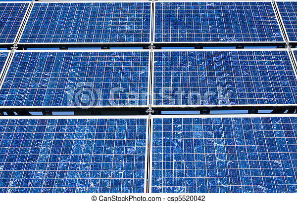 Solar panel close-up - csp5520042
