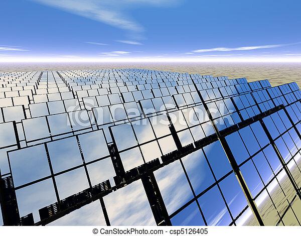 Solar panel farm in the desert - csp5126405