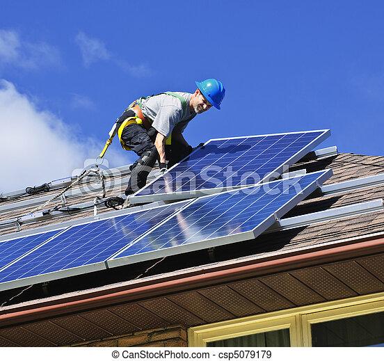 Solar panel installation - csp5079179