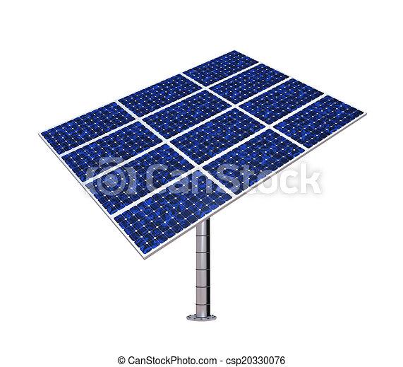 Solar Panel Isolated - csp20330076