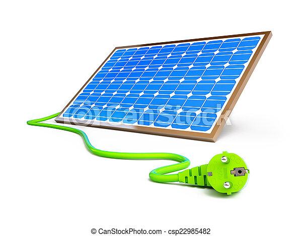 solar panel power plug  - csp22985482