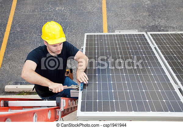 Solar Panel Repair with Copyspace - csp1941944
