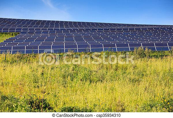 Solar panels of photovoltaic modules - csp35934310