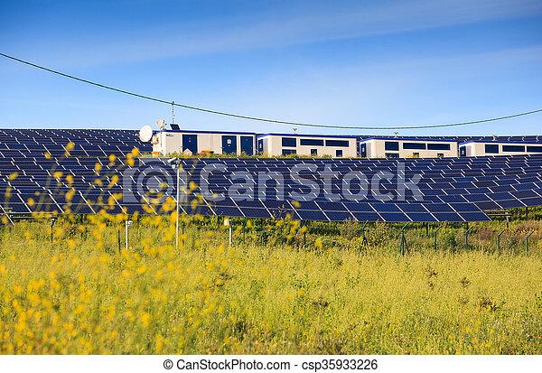 Solar panels of photovoltaic modules - csp35933226