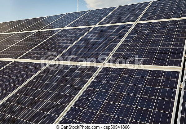 Solar panels on a roof - csp50341866