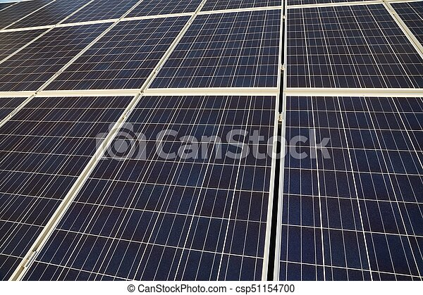 Solar panels on a roof - csp51154700