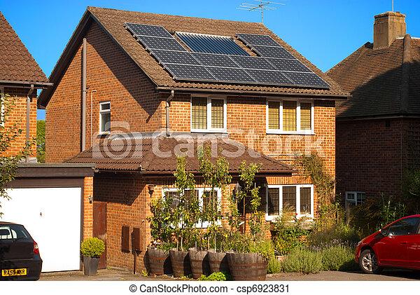 Solar panels on house - csp6923831