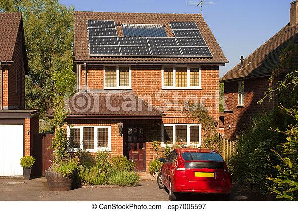 Solar panels on house - csp7005597
