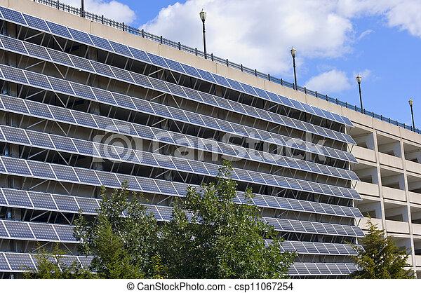 Solar Panels on Parking Garage - csp11067254