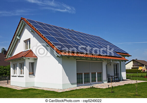 Solar Panels on the House Roof - csp5249022