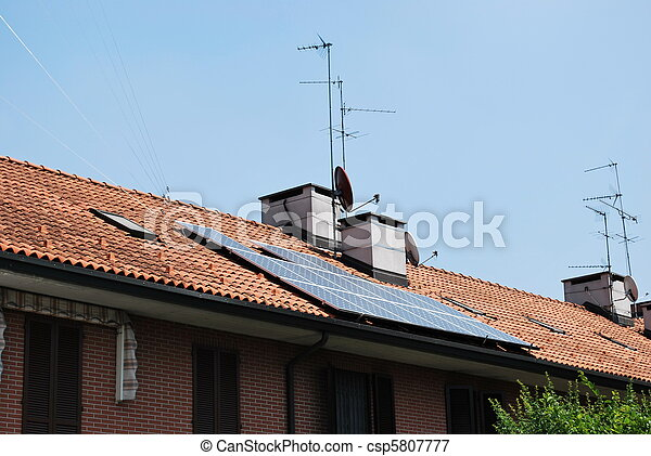 Solar panels on the roof - csp5807777