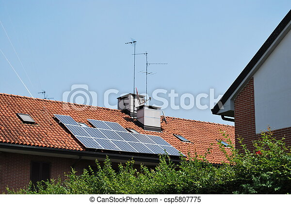 Solar panels on the roof - csp5807775