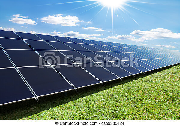 solar panels row - csp9385424