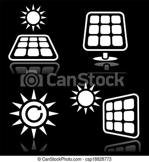 Solar panels, solar energy white ic - csp18828773