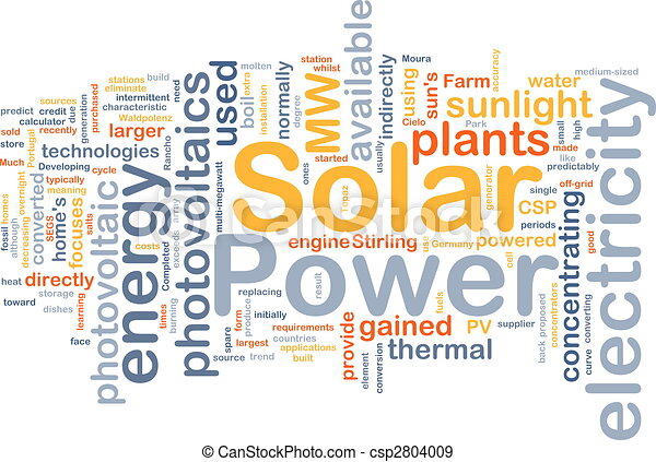 Solar power background concept - csp2804009
