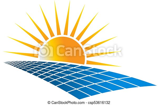 Solar Power Energy Logo Vector Illustration - csp53616132