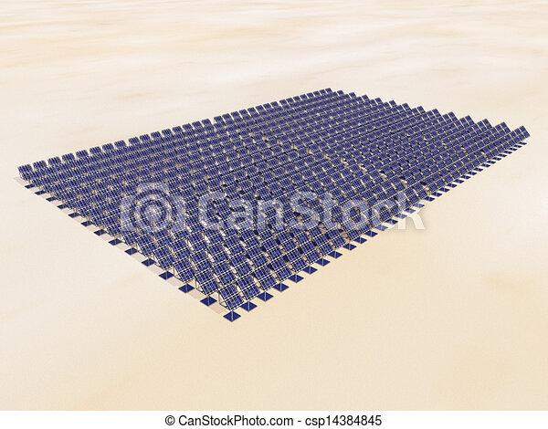 Solar Power Plant in the Desert - csp14384845