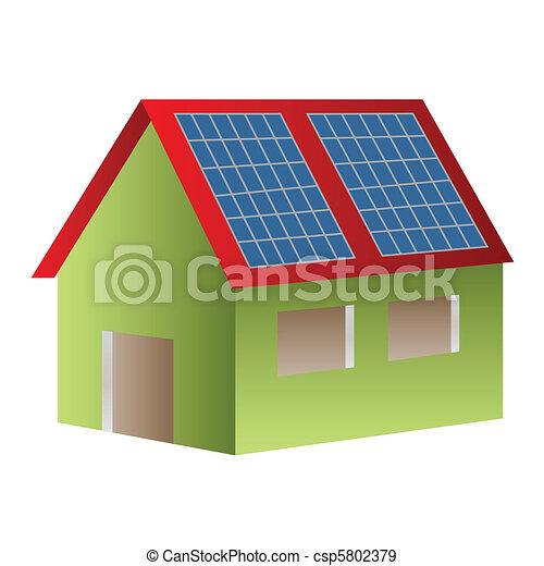 Solar powered house - csp5802379
