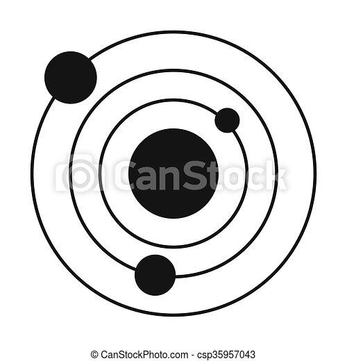 Solar System Black Simple Icon