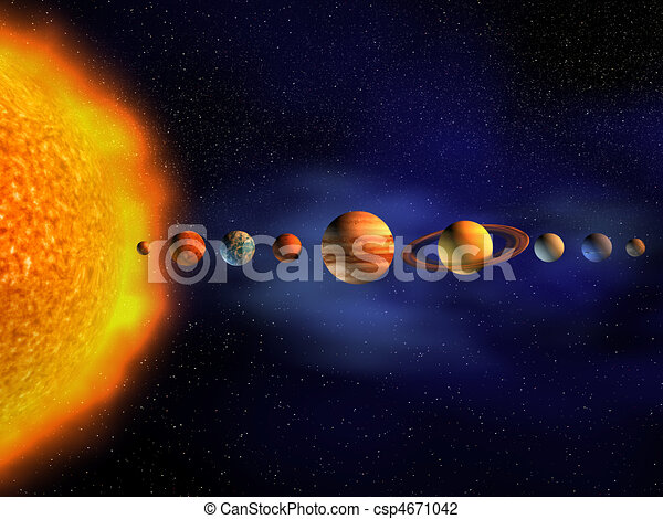 Solar System Diagram Of Planets In Solar System 3d Render