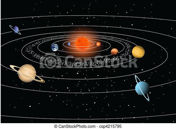 Solar system - csp4215795