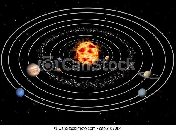 Drawing Of Solar System Csp6187084 Search Clip Art