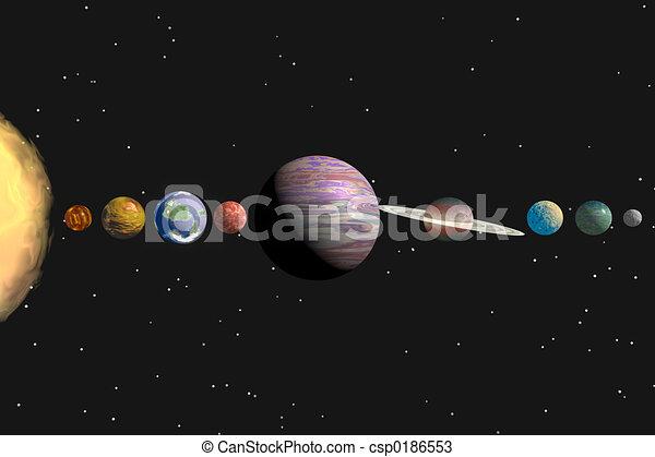 solar system - csp0186553