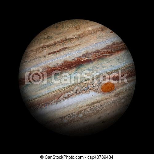 solar system jupiter isolated planet on black