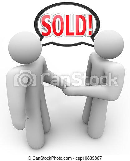 Sold Buyer Seller Salesperson Customer Handshake - csp10833867