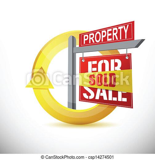sold property 360 design concept illustration - csp14274501