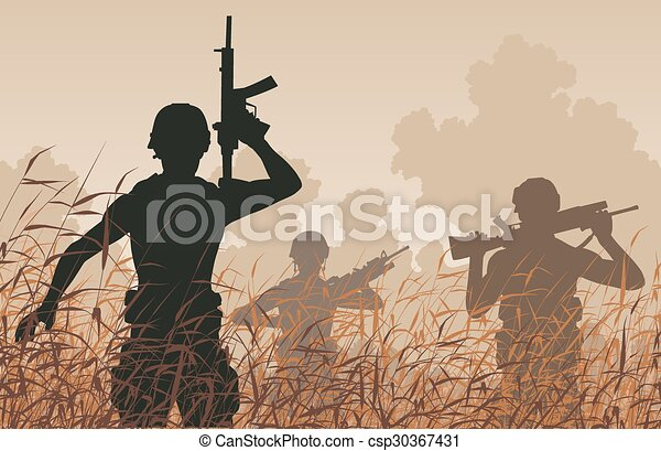 soldaat, patrouille - csp30367431