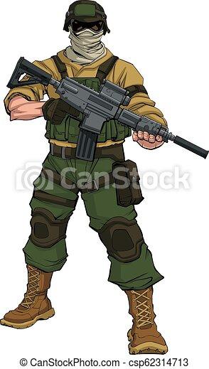 soldaat, patrouille - csp62314713