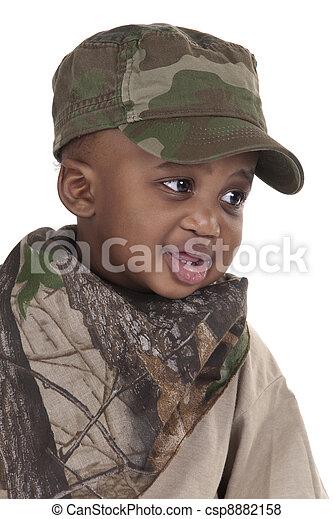 soldado, criança - csp8882158