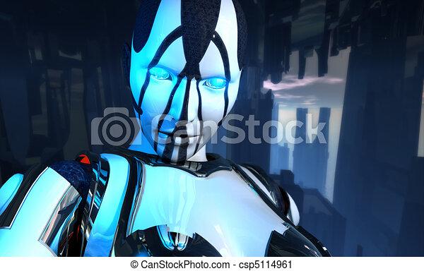 Soldado cyborg avanzado - csp5114961