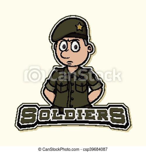 soldado desenho ilustração logotipo