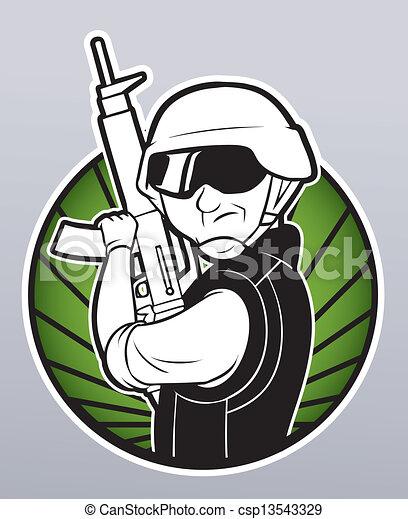 Soldado - csp13543329