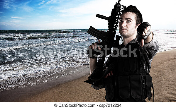 soldado, jovem - csp7212234
