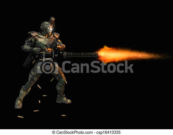 Super soldado avanzado - csp16410335